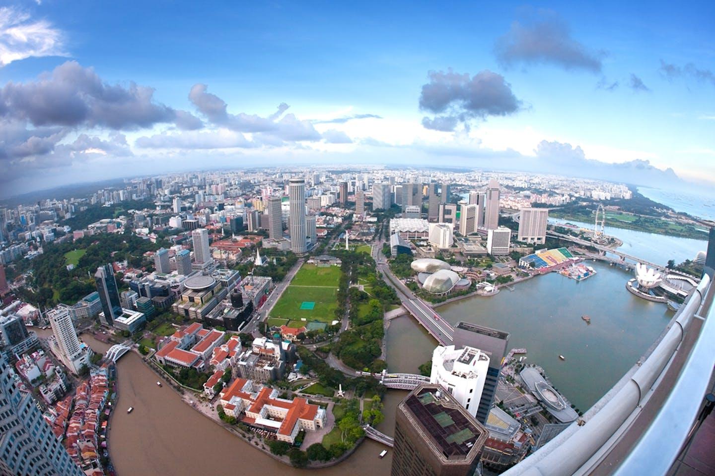 SIngapore aerial wide