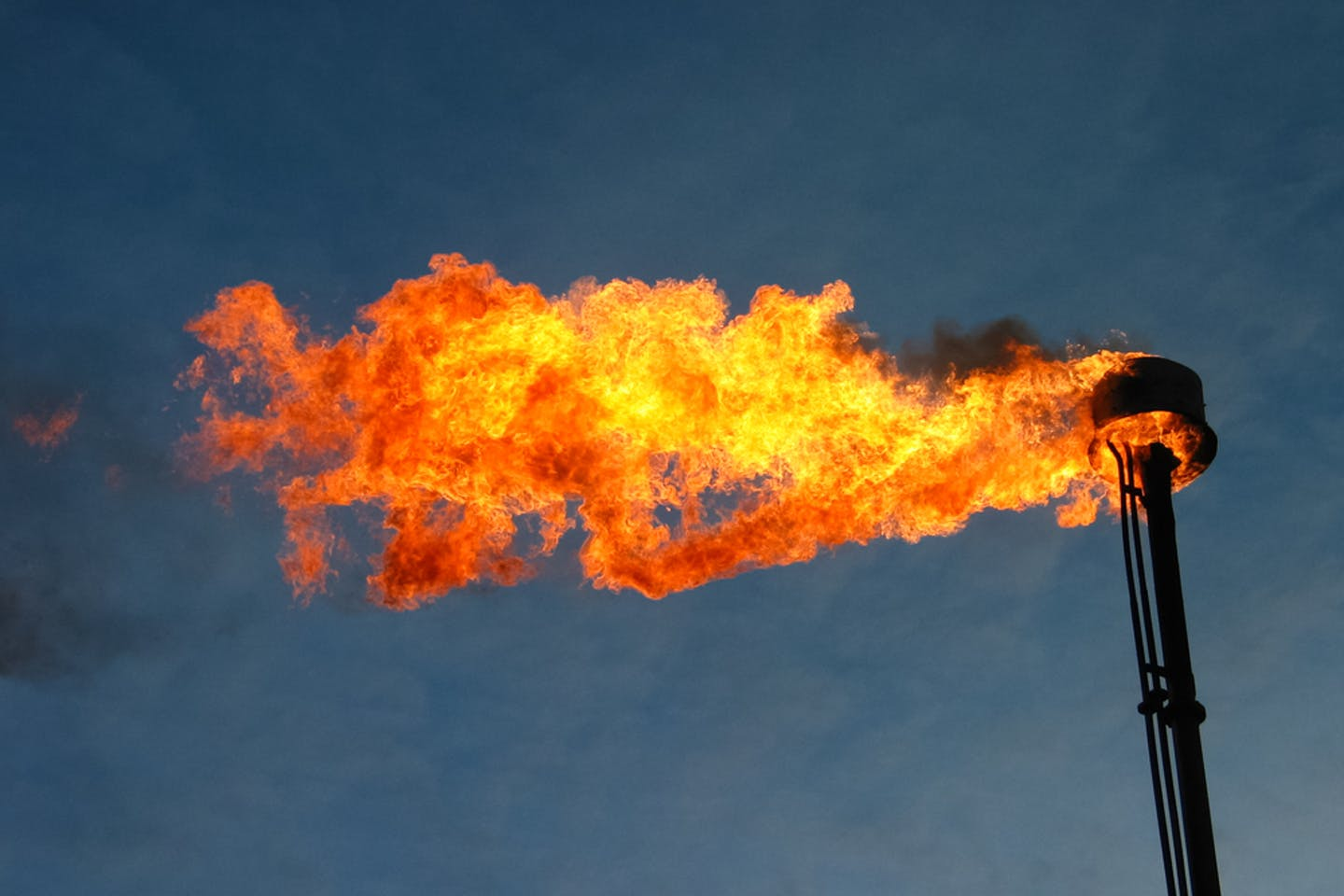 oil flare dramatic