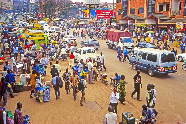 kampala crowded scene