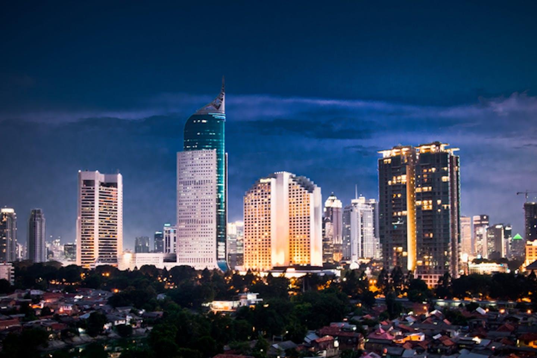 jakarta skyline night