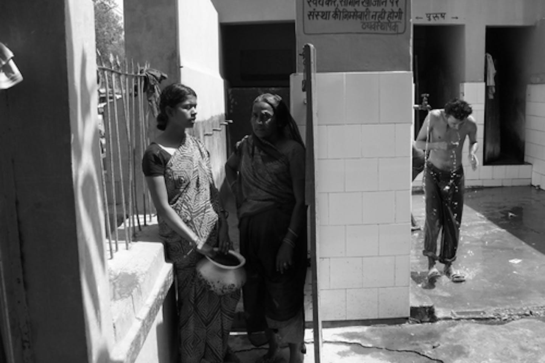 Public bath in India