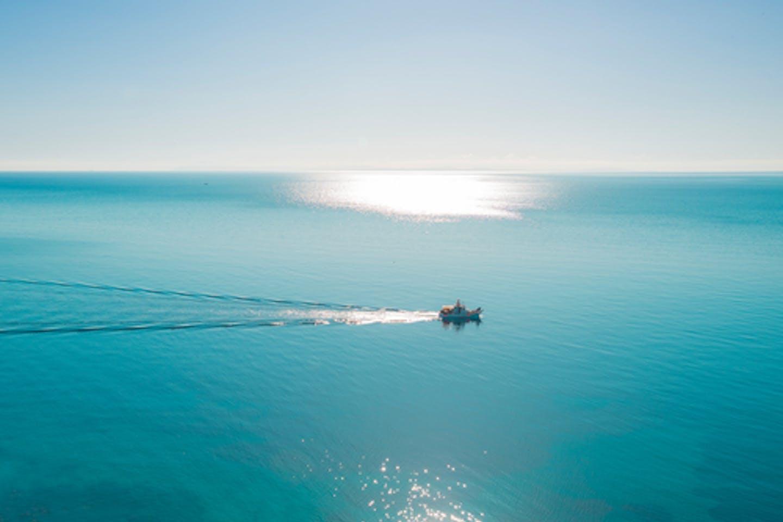 Solo boat in Greek waters