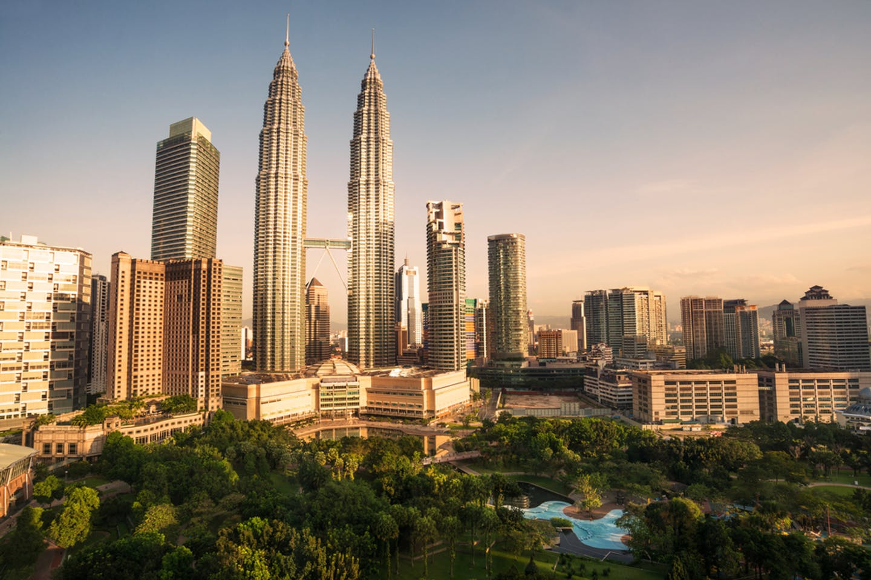 Malaysia urban skyline