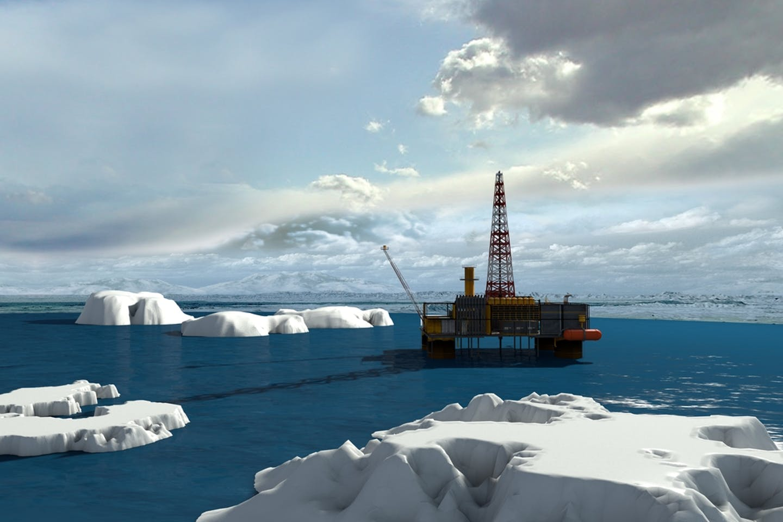 oil platform in the arctic