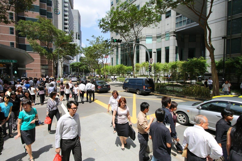 singapore CBD workers