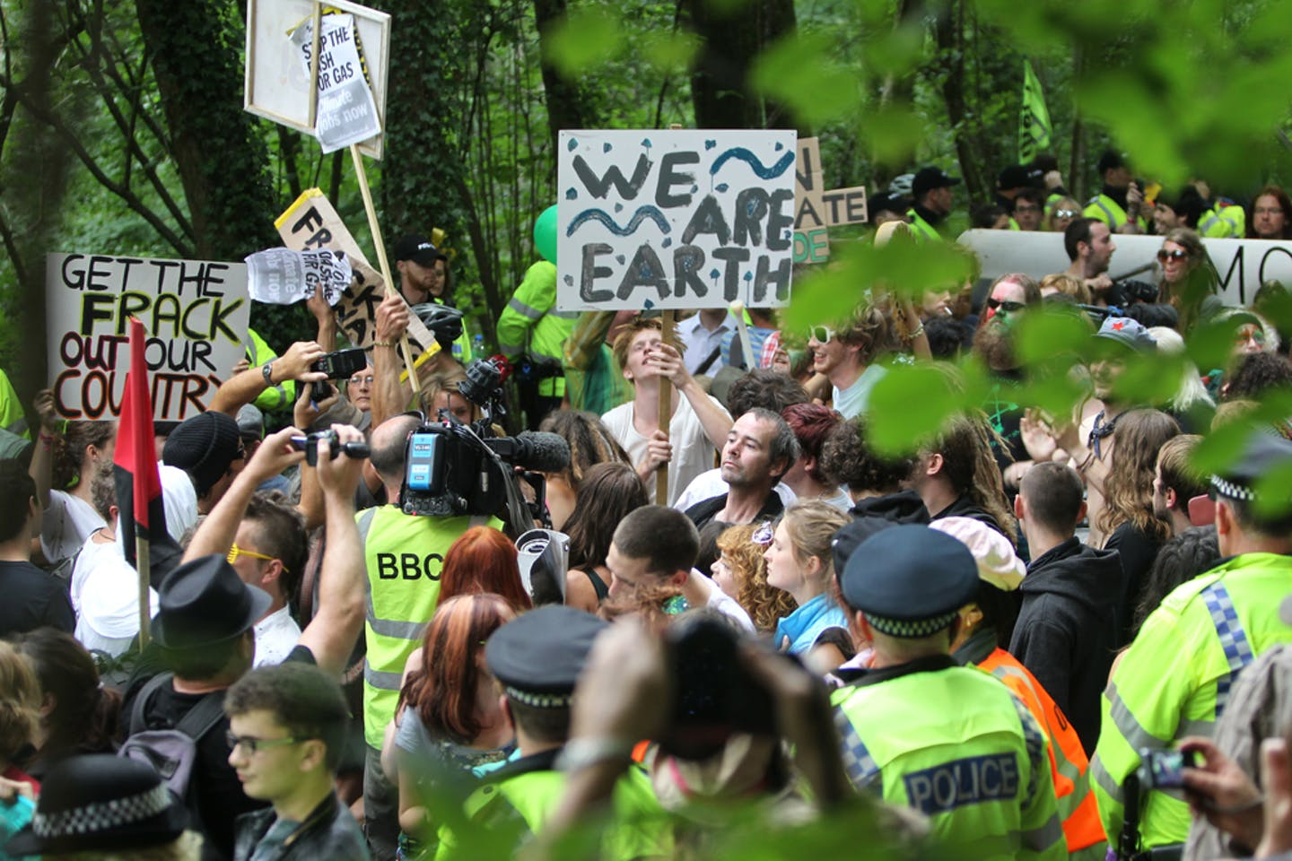 anti fracking protest uk