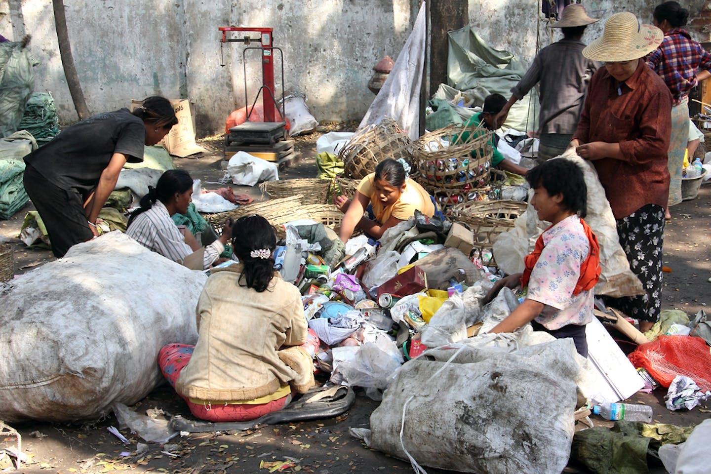 rag pickers myanmar