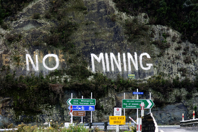 no mining protest new zealand