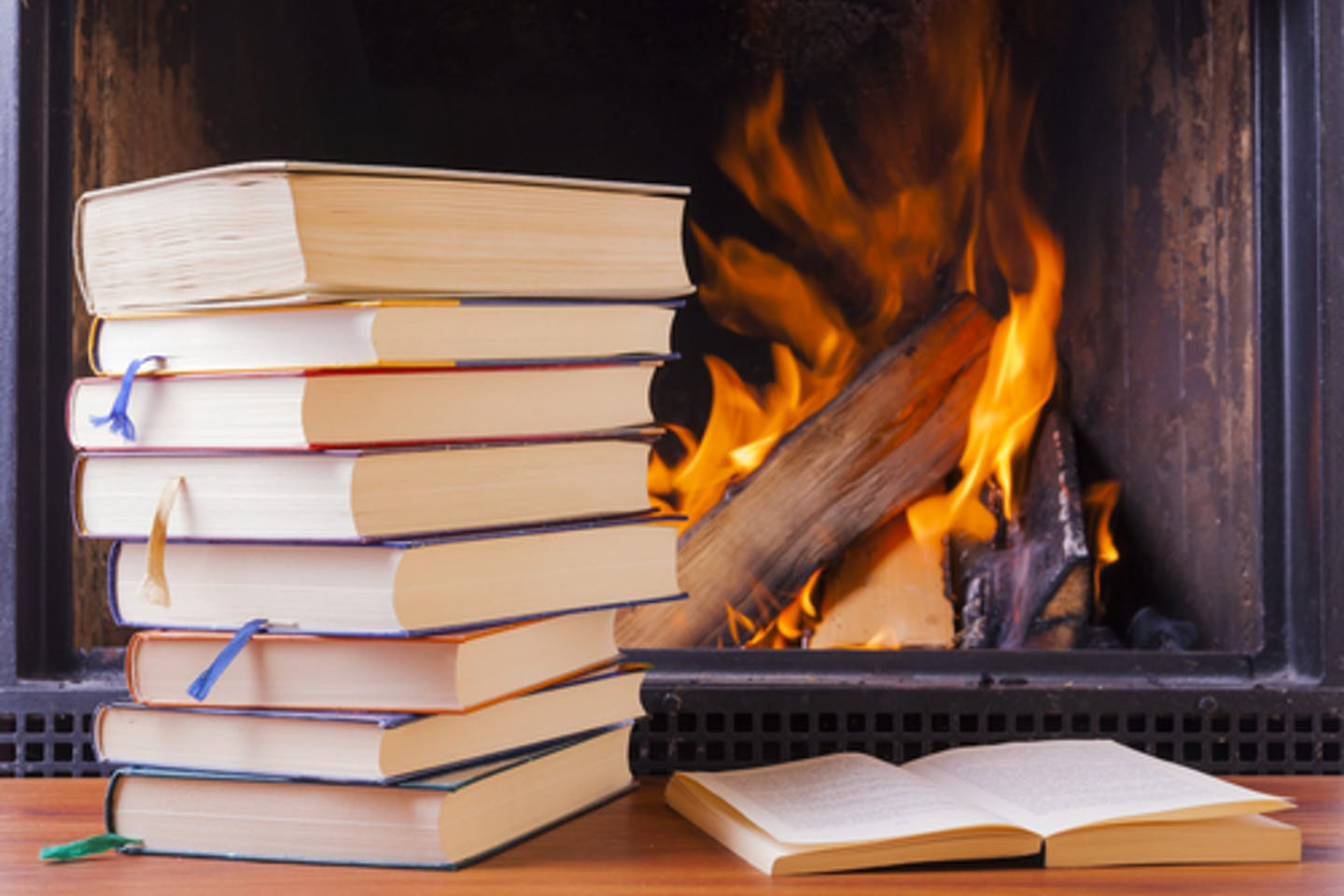 Burning books to stay warm