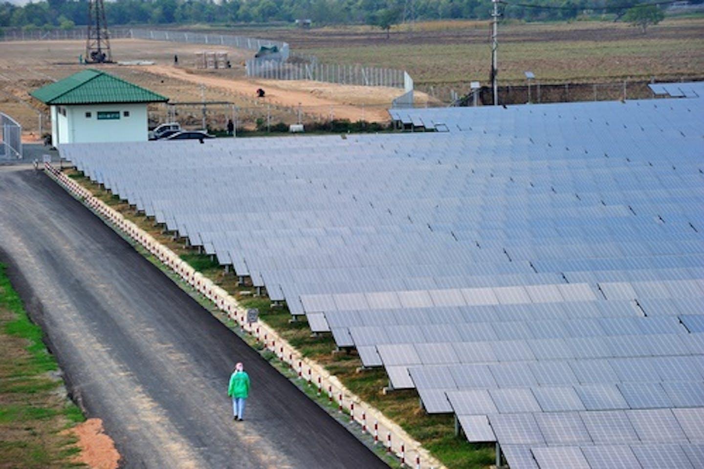 solar farm thailand walk