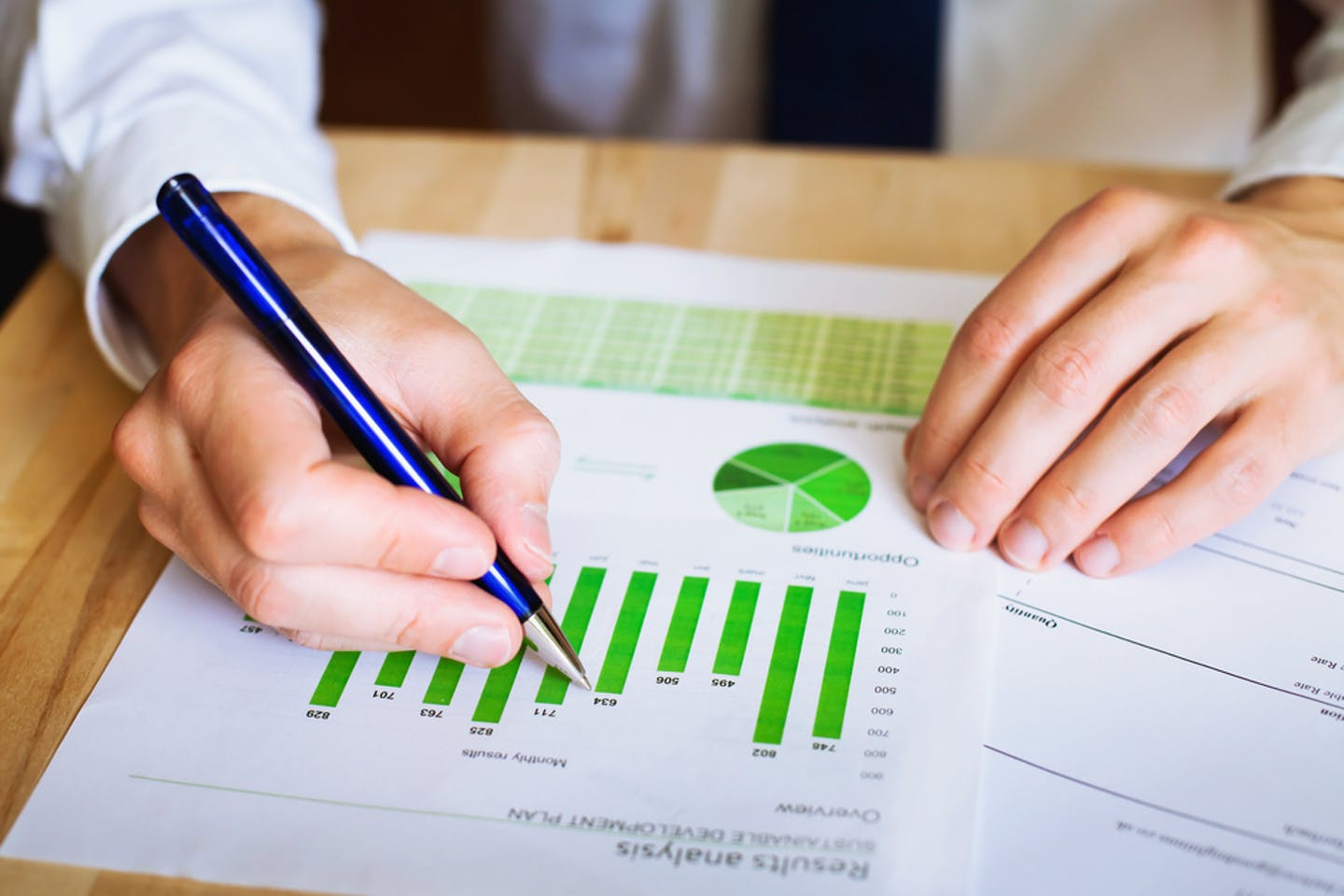 sustainability reporting charts