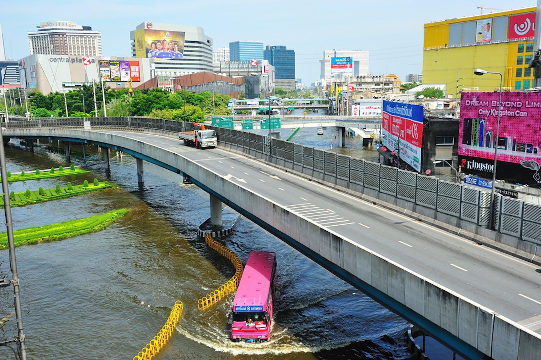 bangkok flooding flyover