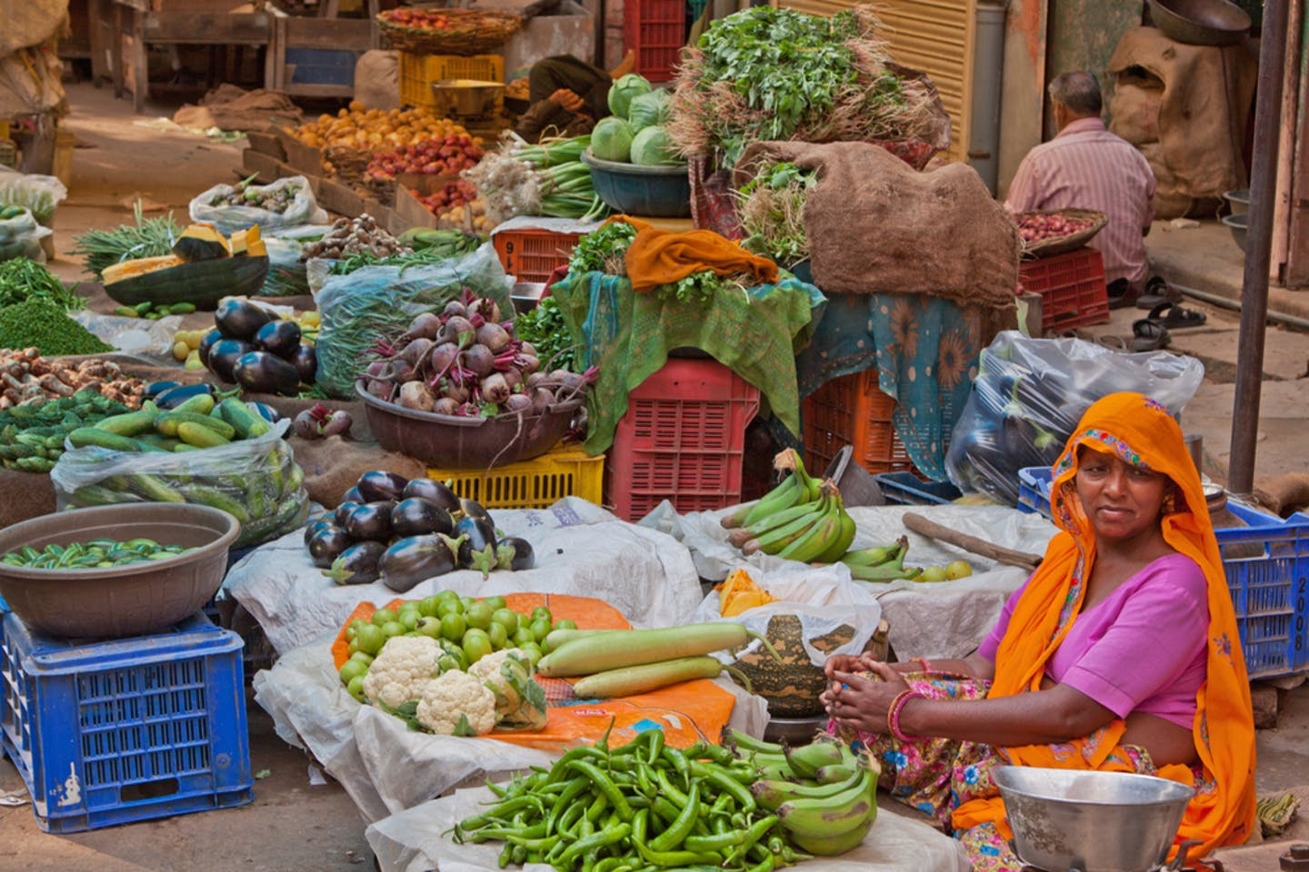 indian vegetable seller