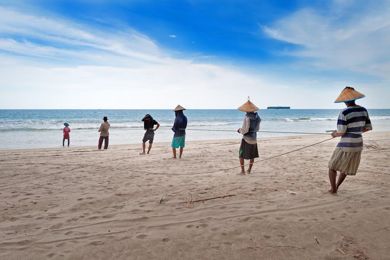fishermen tiku beach padang