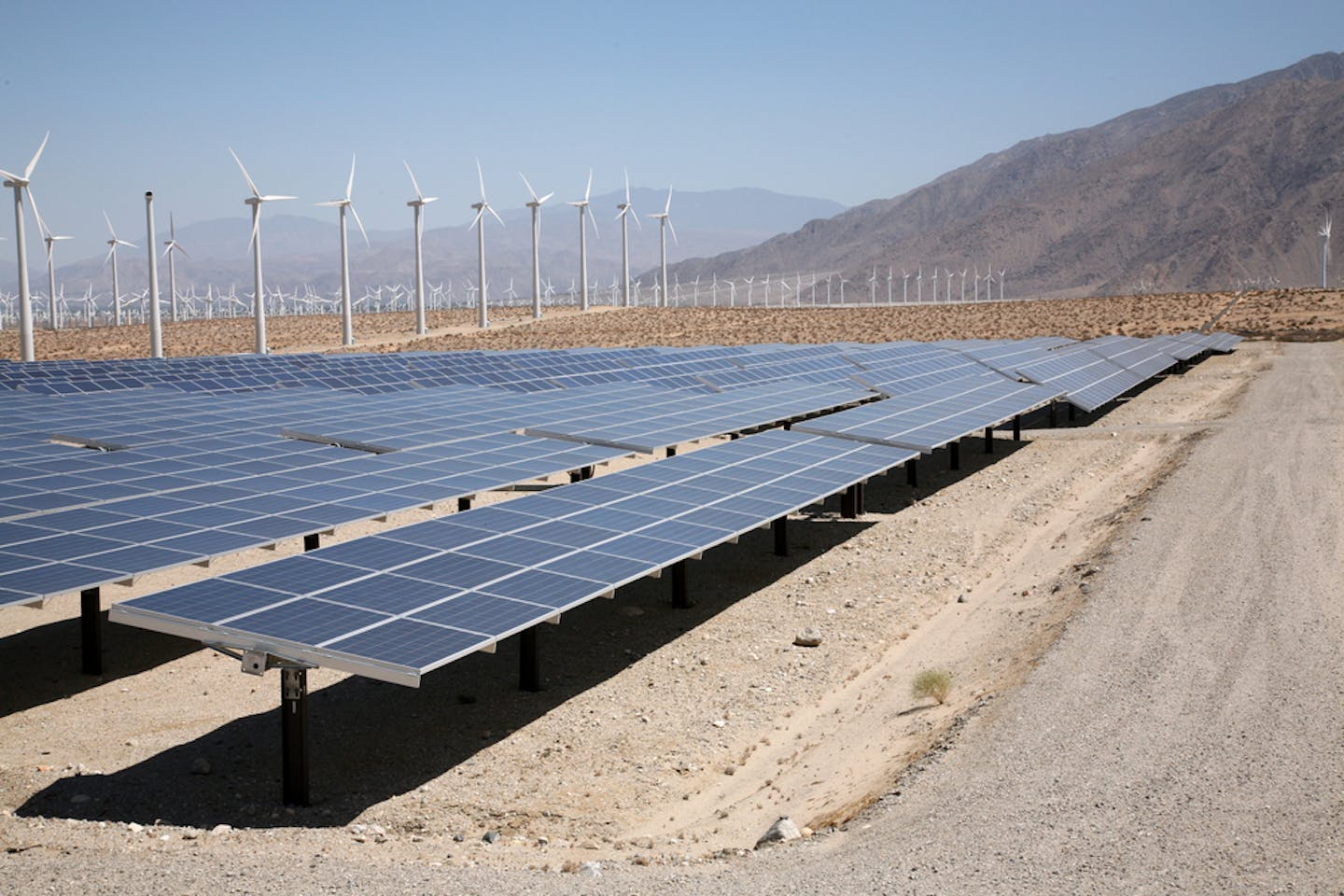 palm springs wind solar