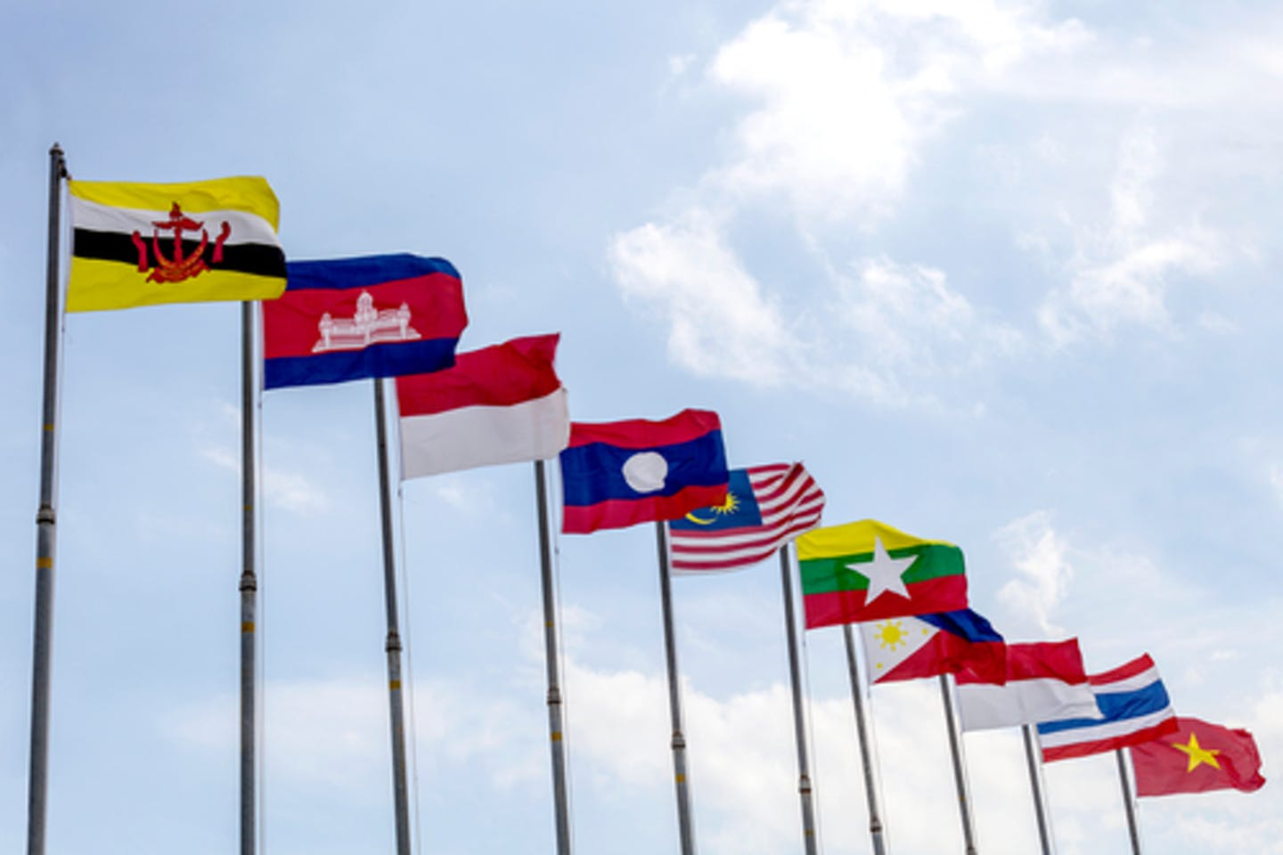 asean flags sd environment