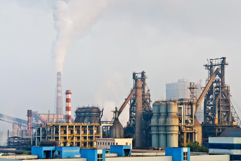 China steelworks smoke