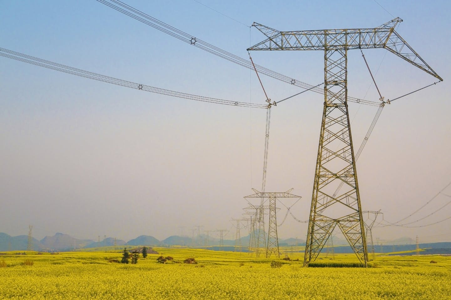 power lines luoping china
