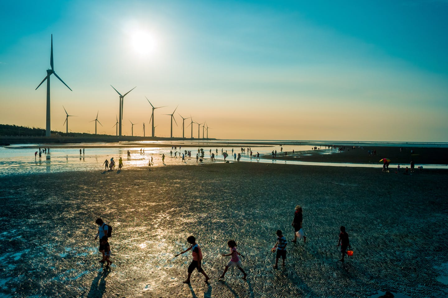 children wind turbines taiwan