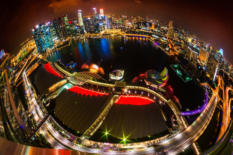 singapore aerial fisheye