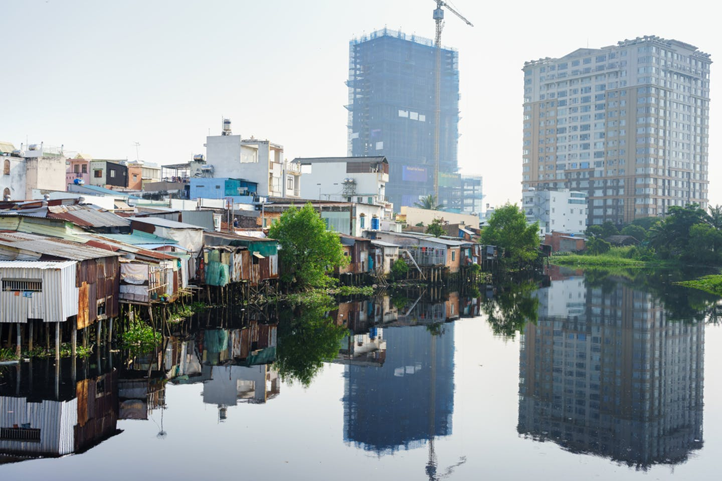 slums and high rise saigon