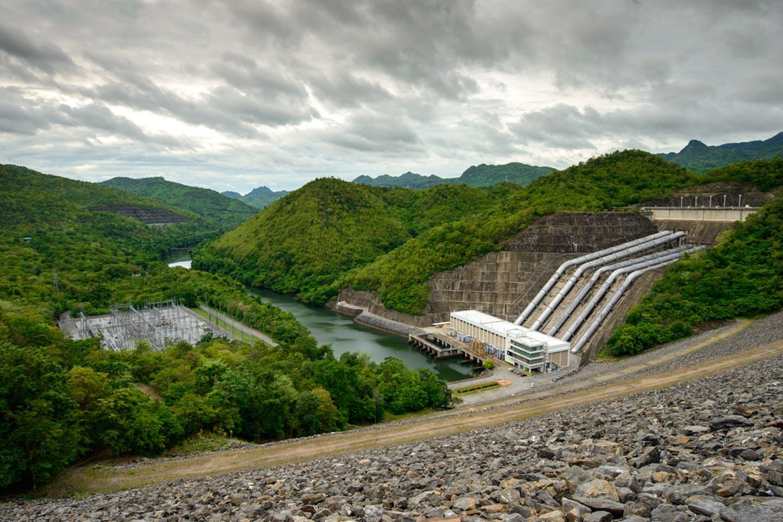 Kanchanaburi dam thailand