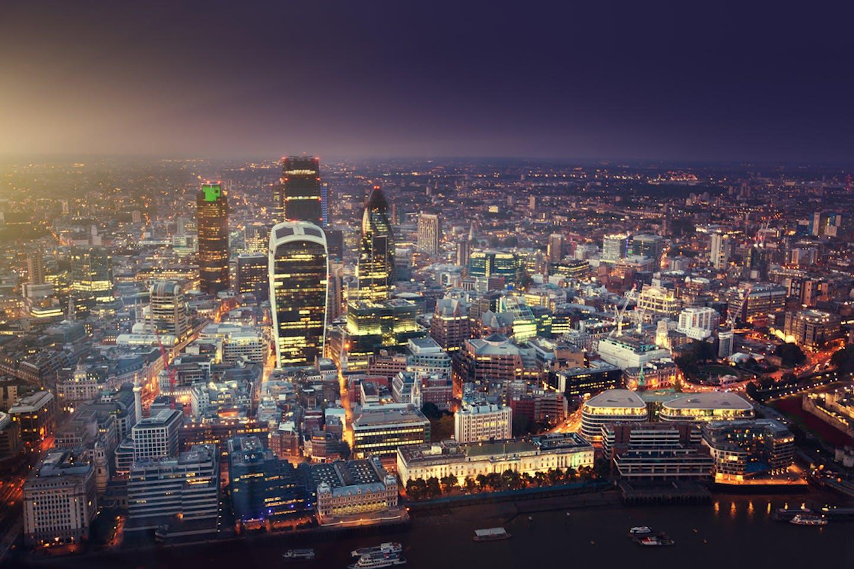 london buildings sunset