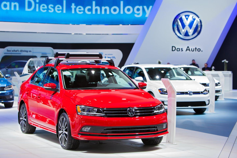 VW in showroom