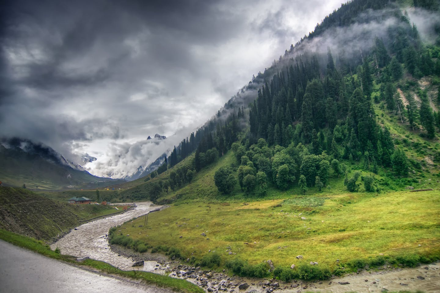 storm clouds over indian mountains