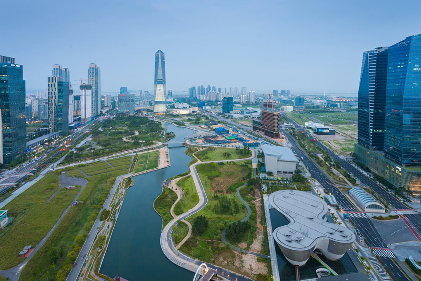 songdo aerial view