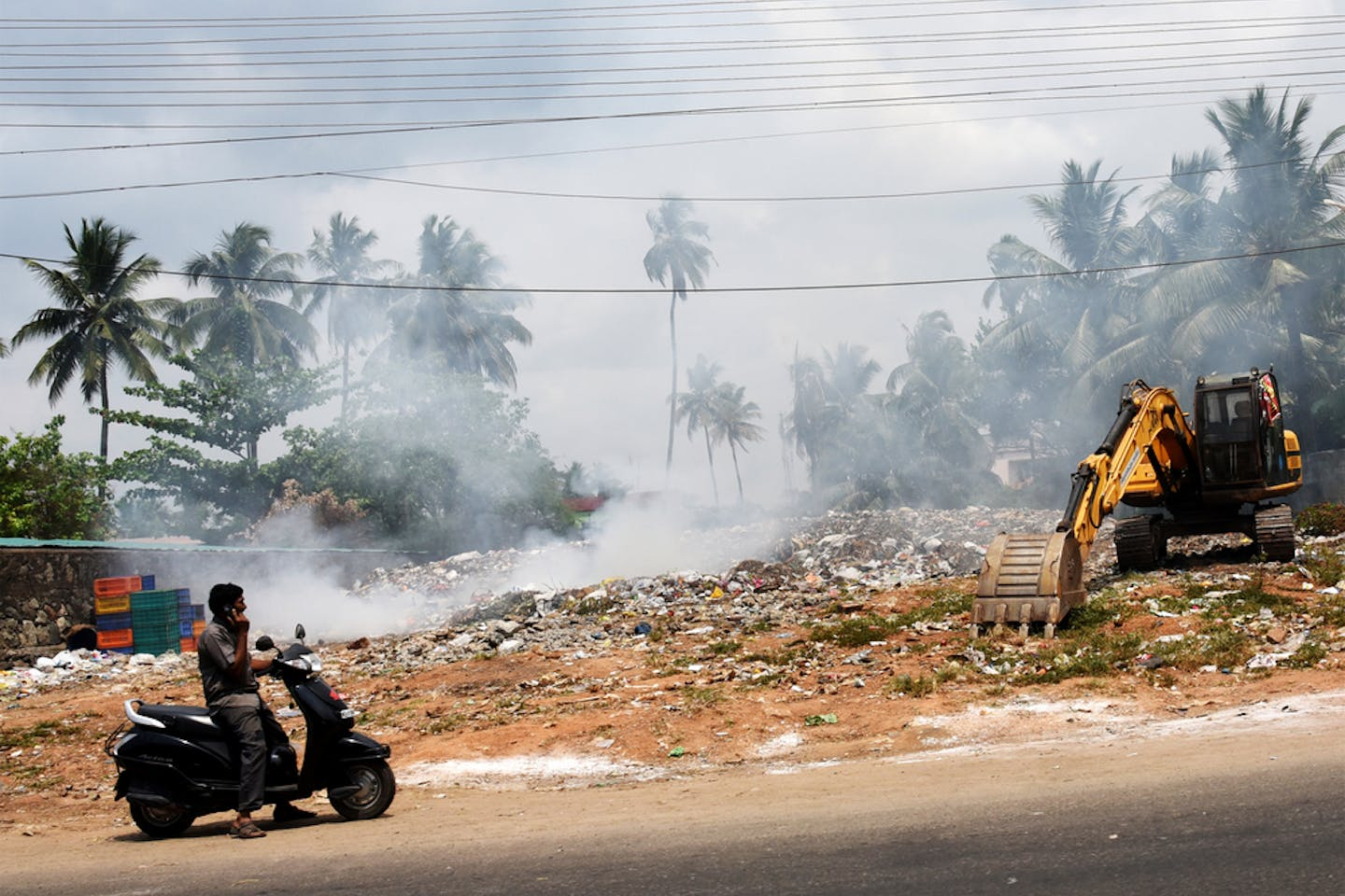 garbage burning trivandrum