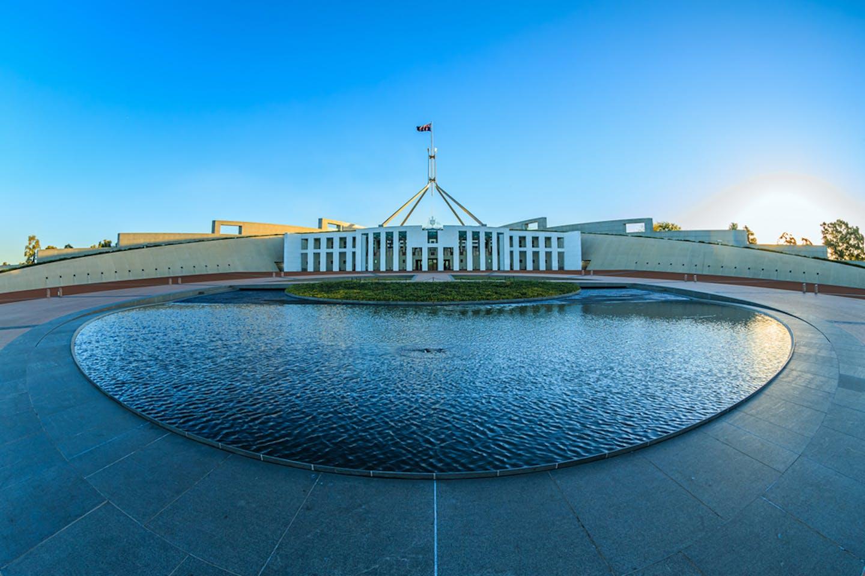 canberra parliament fisheye