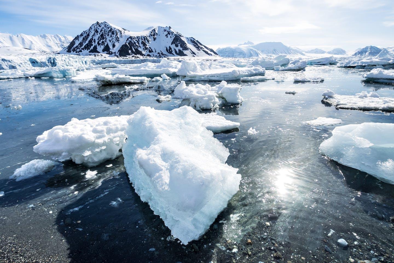 arctic ice spitzbergen