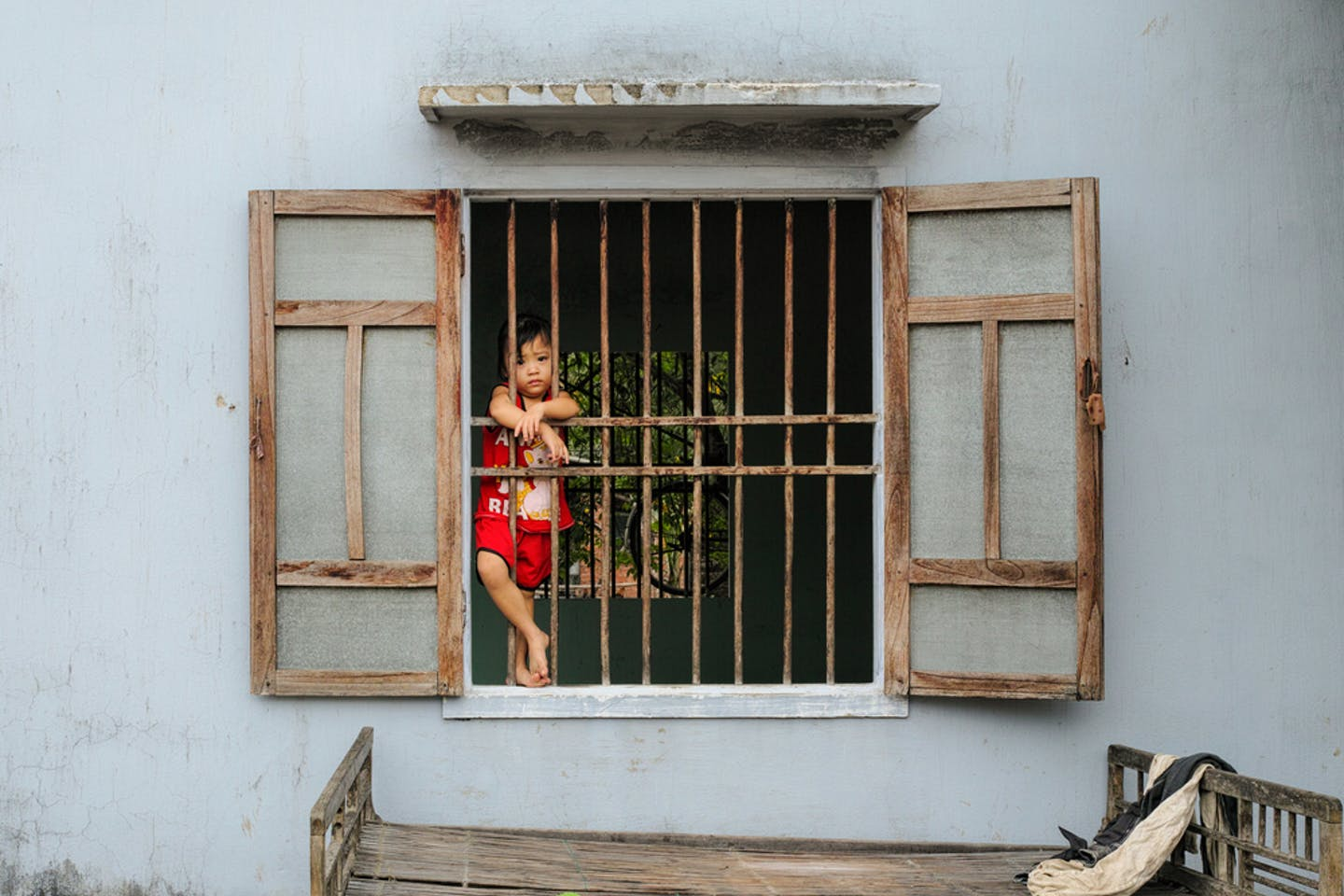 vietnam child house window