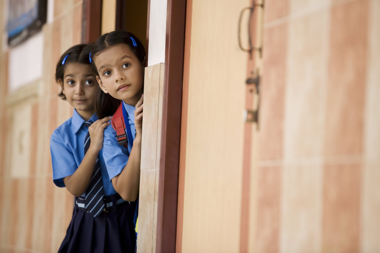 india girls classroom