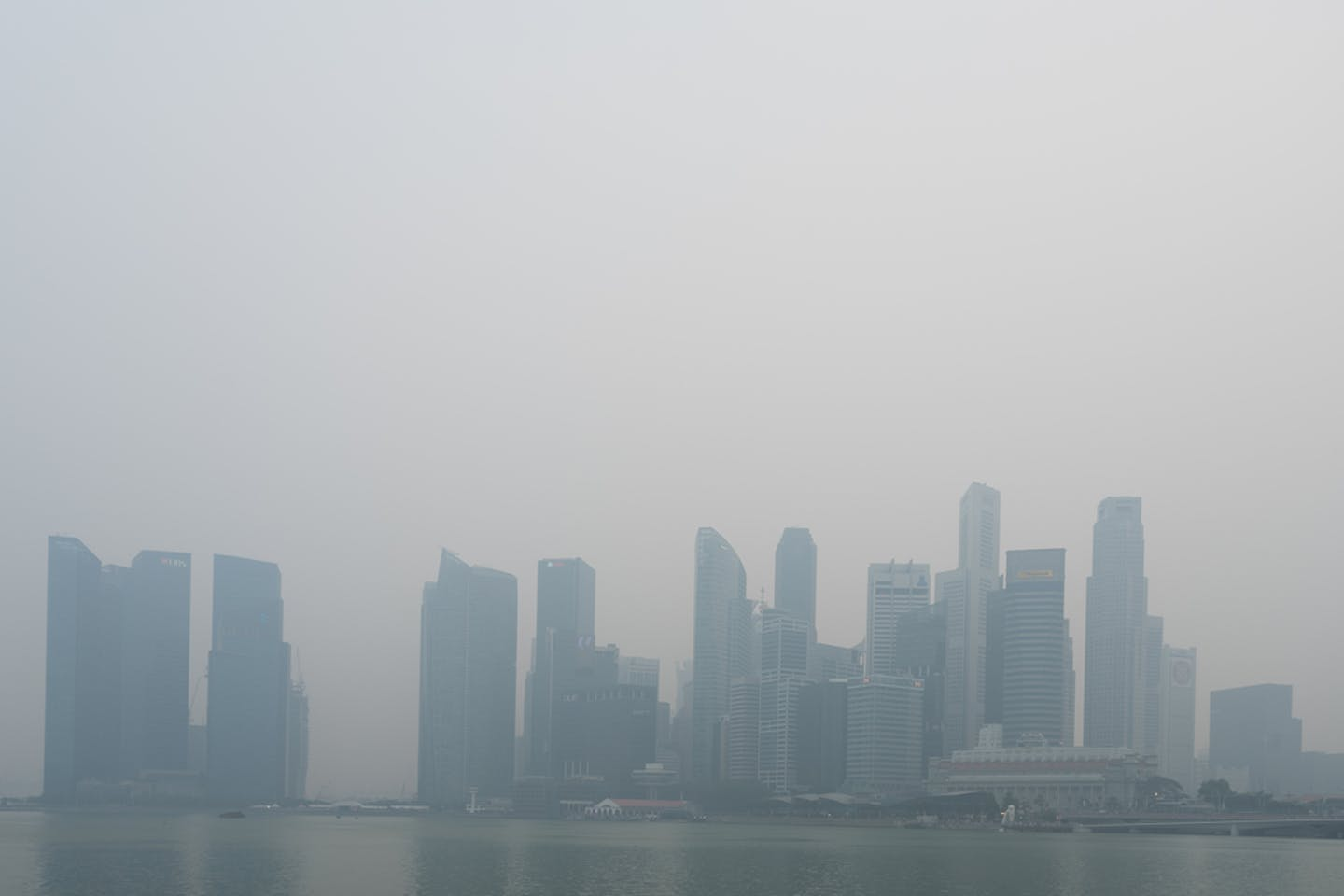 haze singapore's CBD skyline