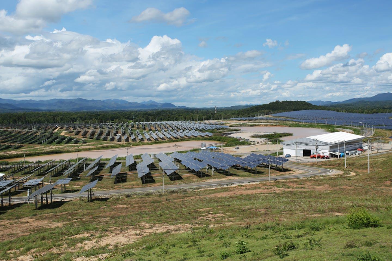 solar farm thailand aerial