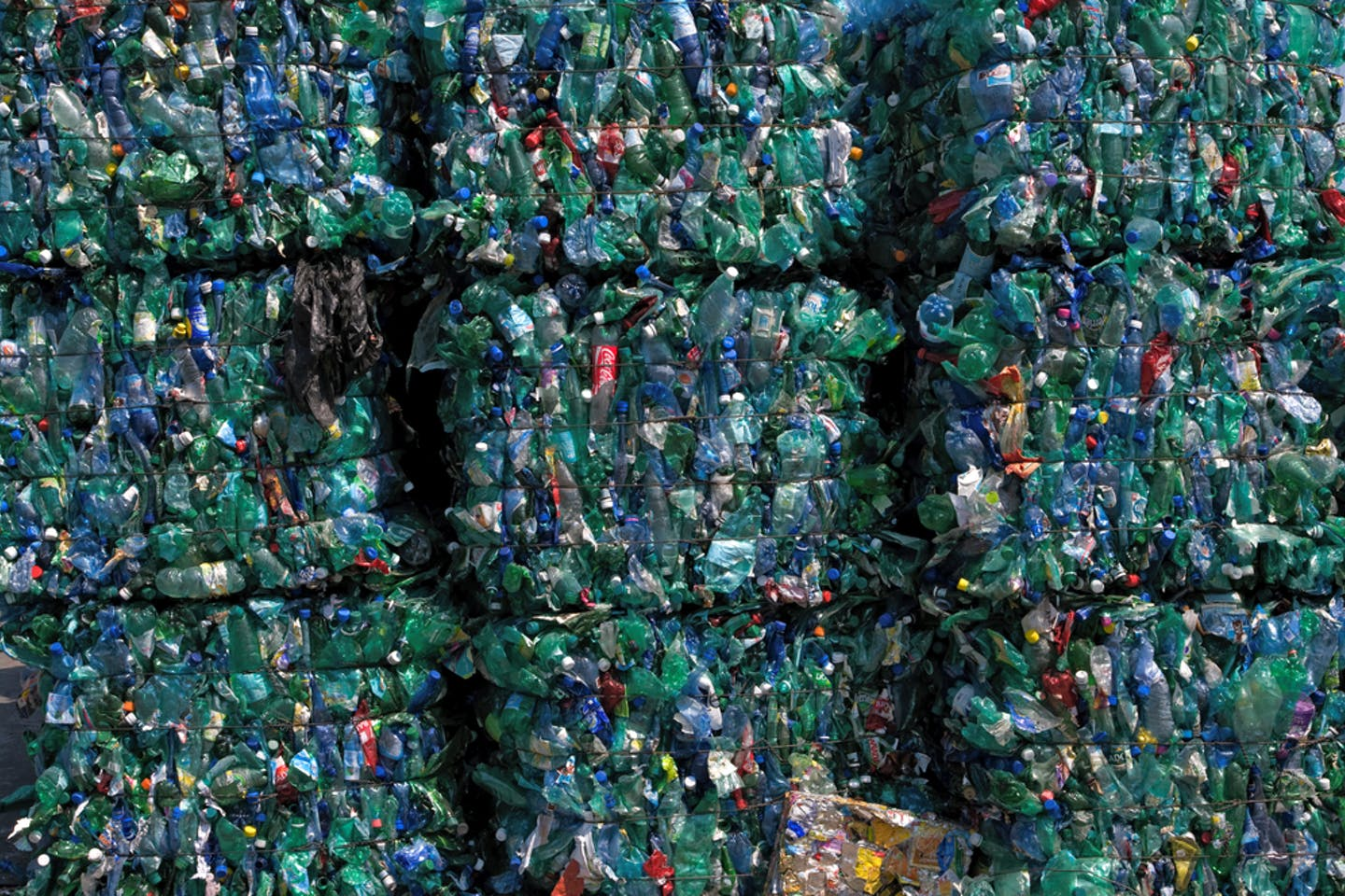 bales of plastic in france