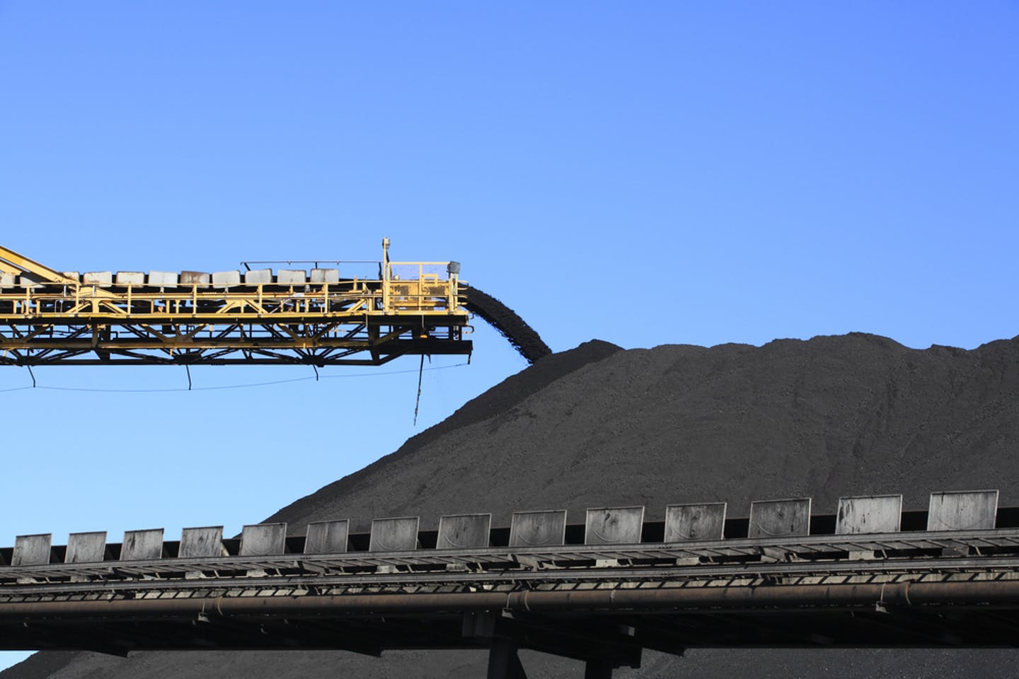 pile of coal at mine