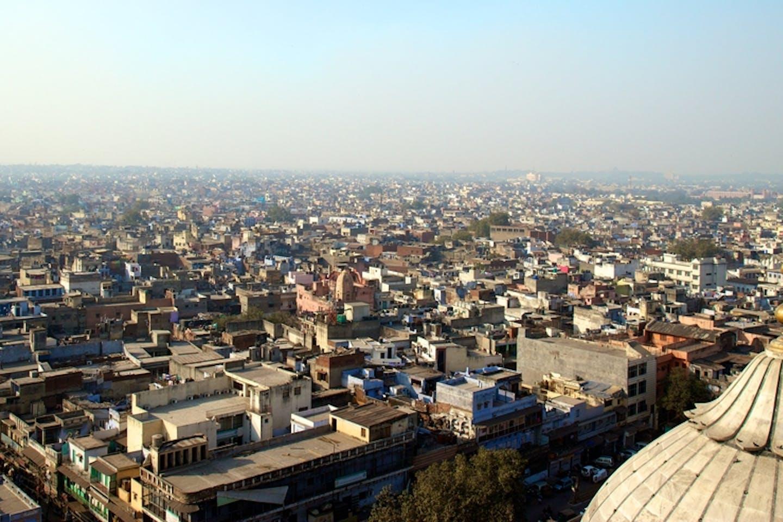 delhi aerial view