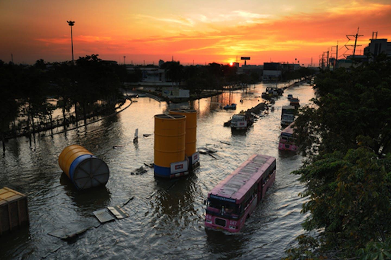Flooded bangkok