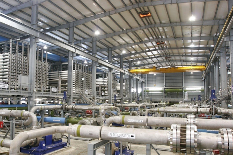 Tuaspring desalination plant in Singapore