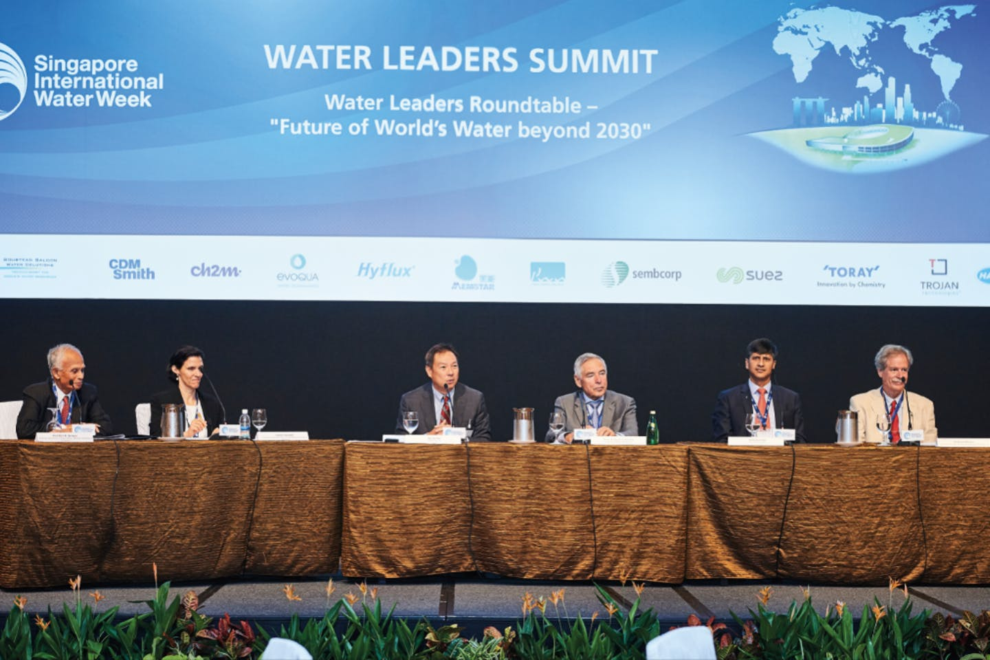 Delegates discuss the future of the water industry at Singapore International Water Week. Image: SIWW