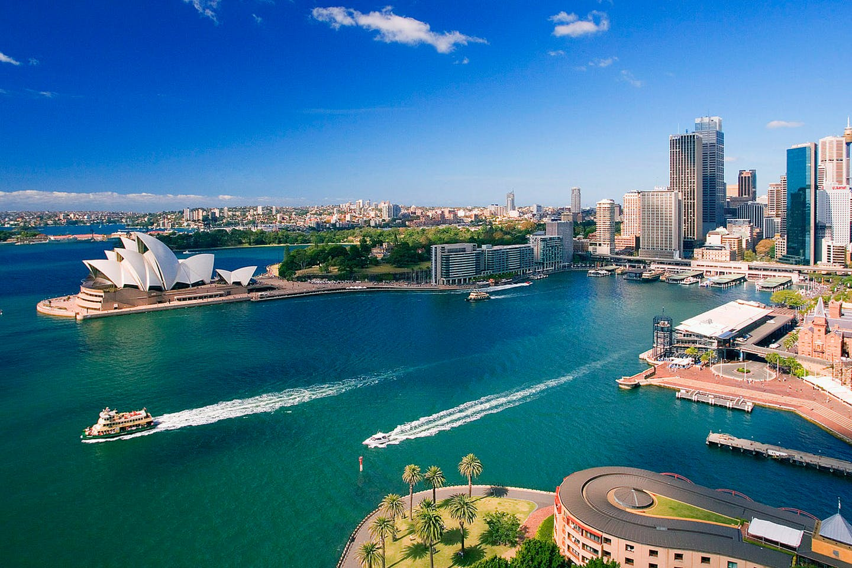 Sydney bluegreen waterfront