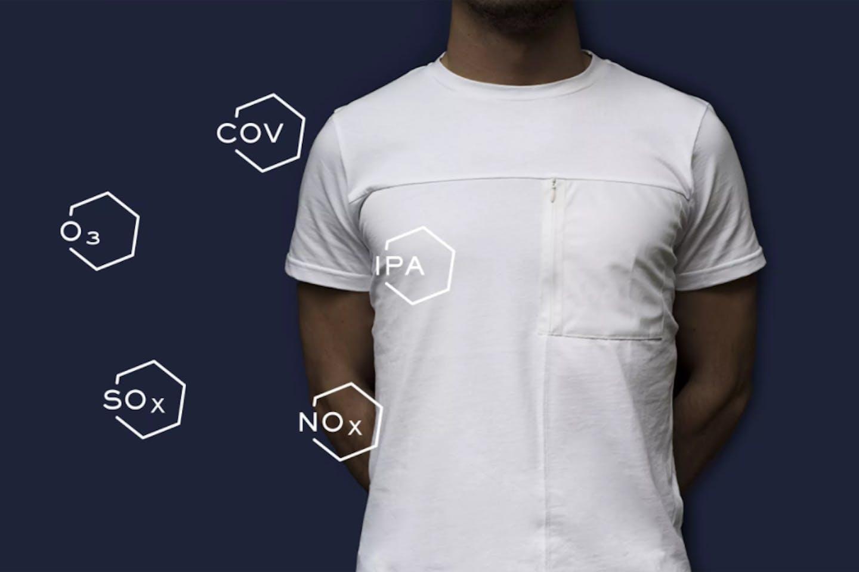 Anti-pollutant t-shirt RepAir