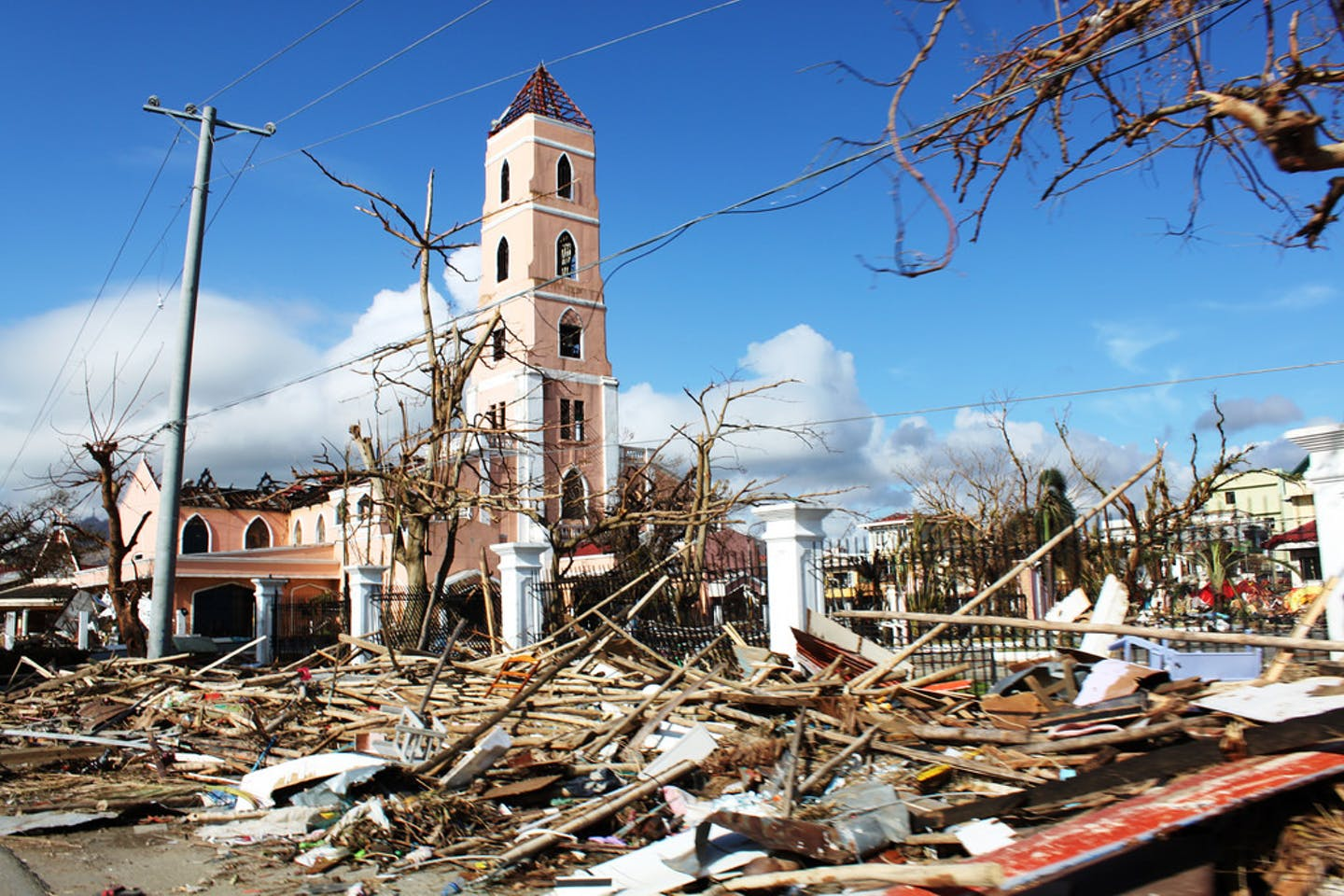 Tacloban city in the Philippines after the destruction wrought by Typhoon Haiyan in 2013