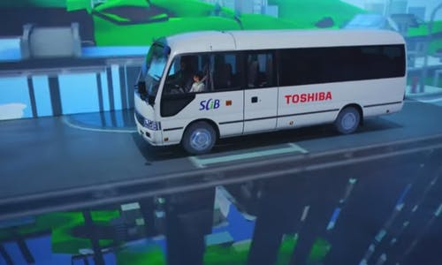 Toshiba unveils fast-charging electric buses for smart communities