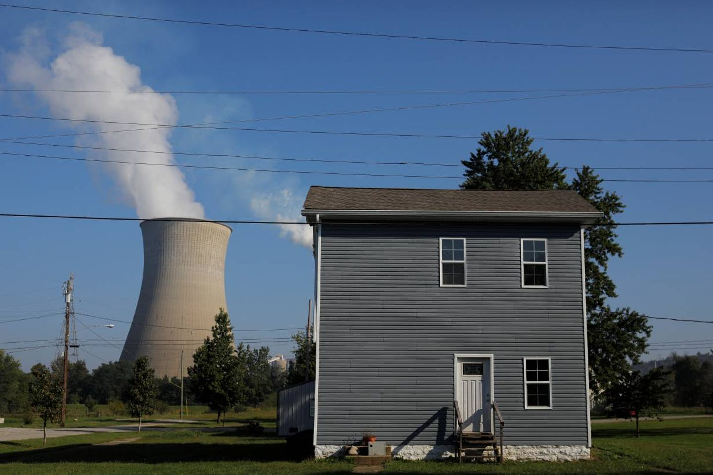 home near a coal plant in Moscow, Ohio