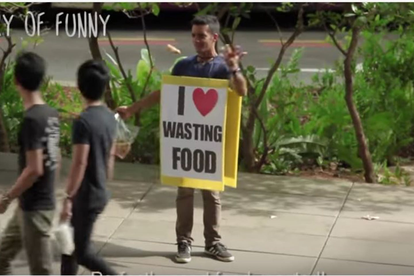 video grab wasting food is awesome