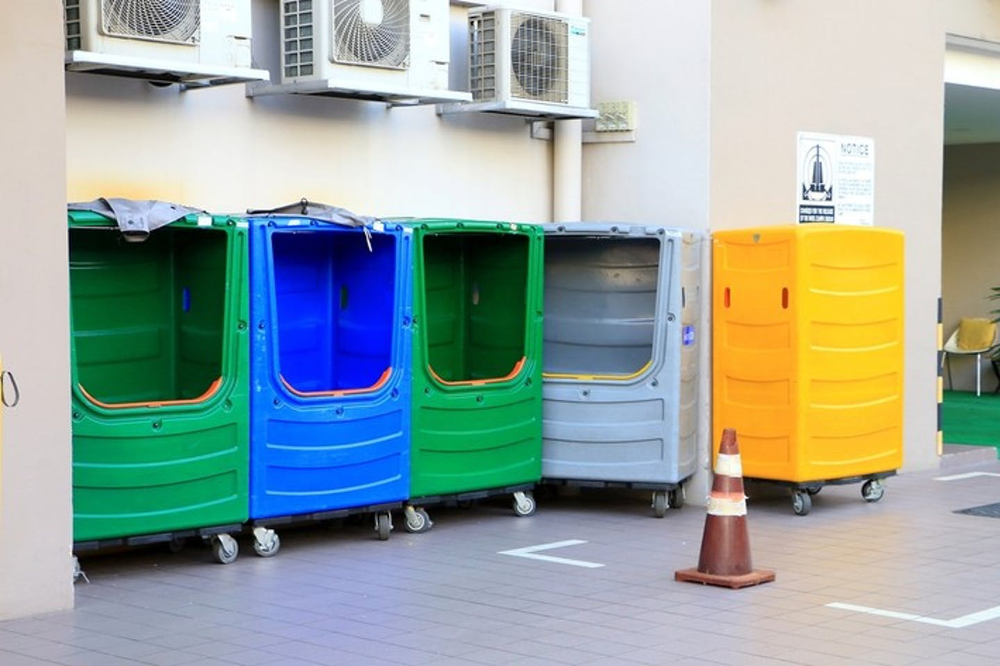 Recycle and scrap bins in Singapore